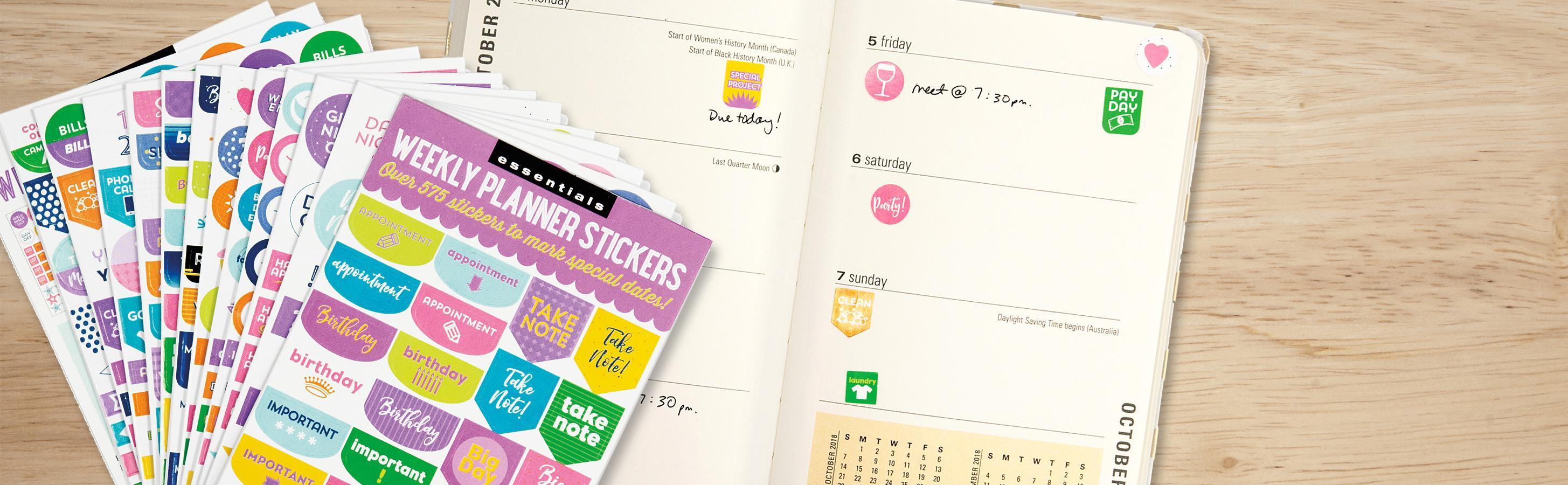 Amazon.com: Essentials Weekly Planner Stickers (Set of 575 ...