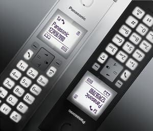 Panasonic KX-TGK210 - Teléfono Fijo Inalámbrico de Diseño, LCD 1.5