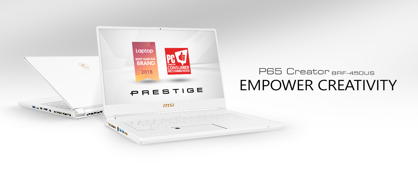 MSI P65 Creator 8RF-450US Ultra Thin Productivity / Gaming Laptop, 15.6