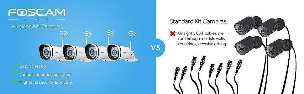 Foscam FN-3104W wireless comparison