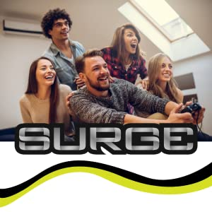 surge gaming, surge brand, surge accessories, surge playstation 5, surge gaming accessories, logo