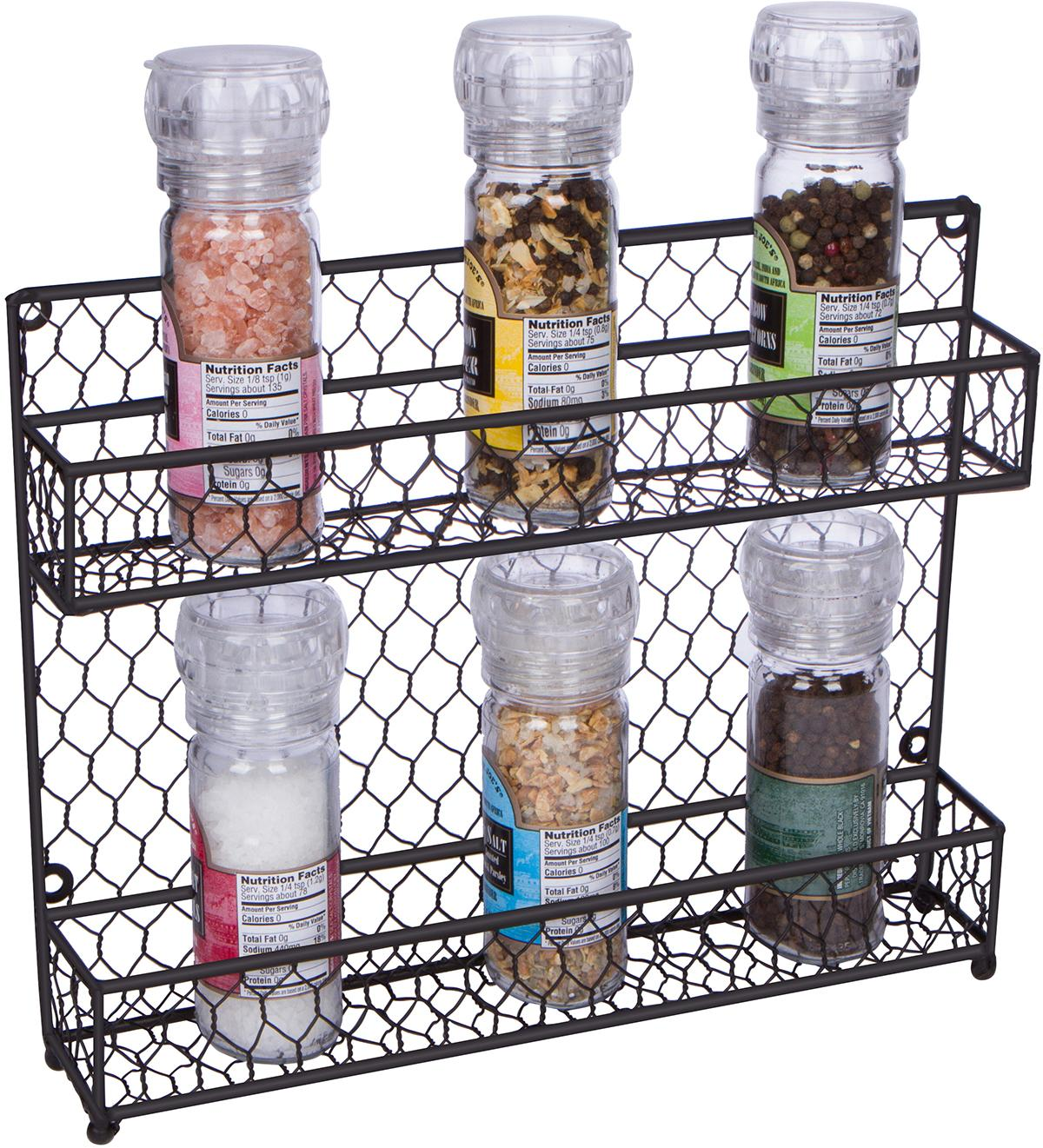 Amazon.com: Trademark Innovations 2-Tier Wire Spice Rack Storage ...