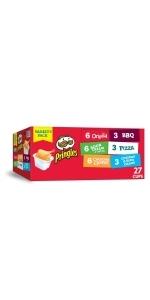 Pringles Crisps Chips, Variety Pack, 19.5 oz (27 Cups)