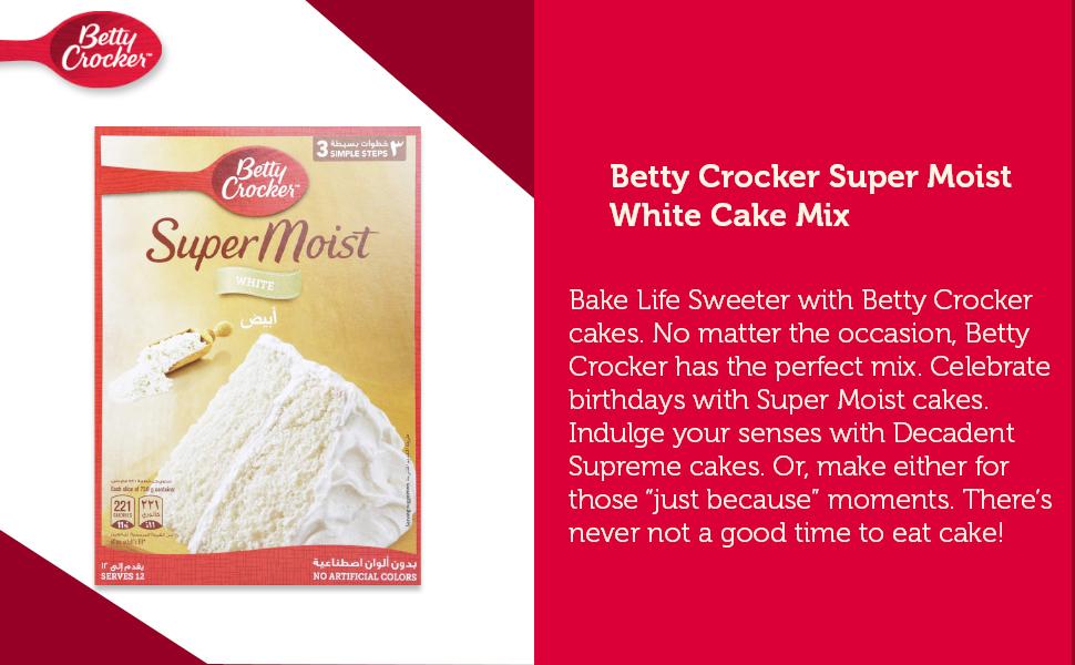 Betty Crocker Super Moist White Cake Mix