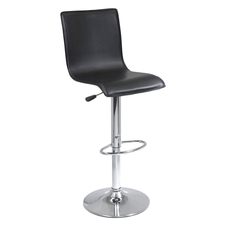 amazoncom winsome spectrum lback airlift adjustable swivel  - winsome spectrum lback airlift adjustable swivel stool faux leather