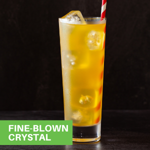 This crystal drinkware features a laser-cut rim to enhance the look and taste of your drink.