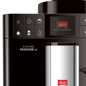 Melitta Máquina de Café Automática Caffeo Passione OT (Negro) F531-102, 1450 W, 1.2 litros, Acero Inoxidable