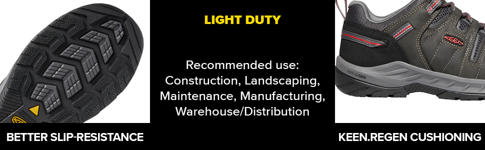 KEEN Utility work shoe landscaping construction cool light duty slip on breathable warehouse
