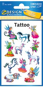 Tattoo kinderen elfen