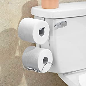 InterDesign Classico Free Standing Toilet Roll Holder, Compact ...