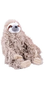 "Wild Republic Cuddlekin Three Toed Sloth 12"""