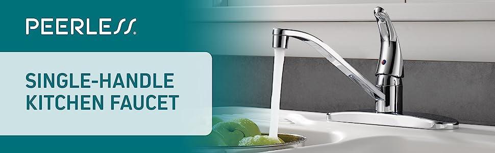 kitchen faucet, kitchen sink faucet, single-handle, peerless