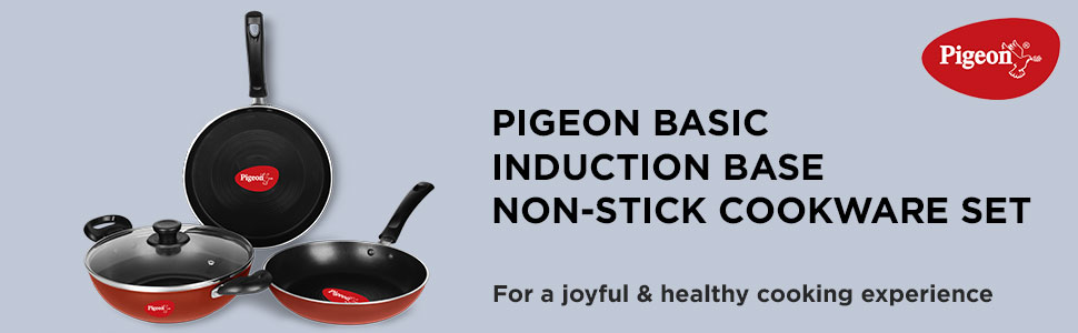 Pigeon Basic Induction Base Non-Stick Cookware Set