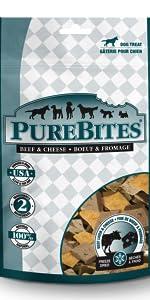 beef; cheese; purebites; dog; treats