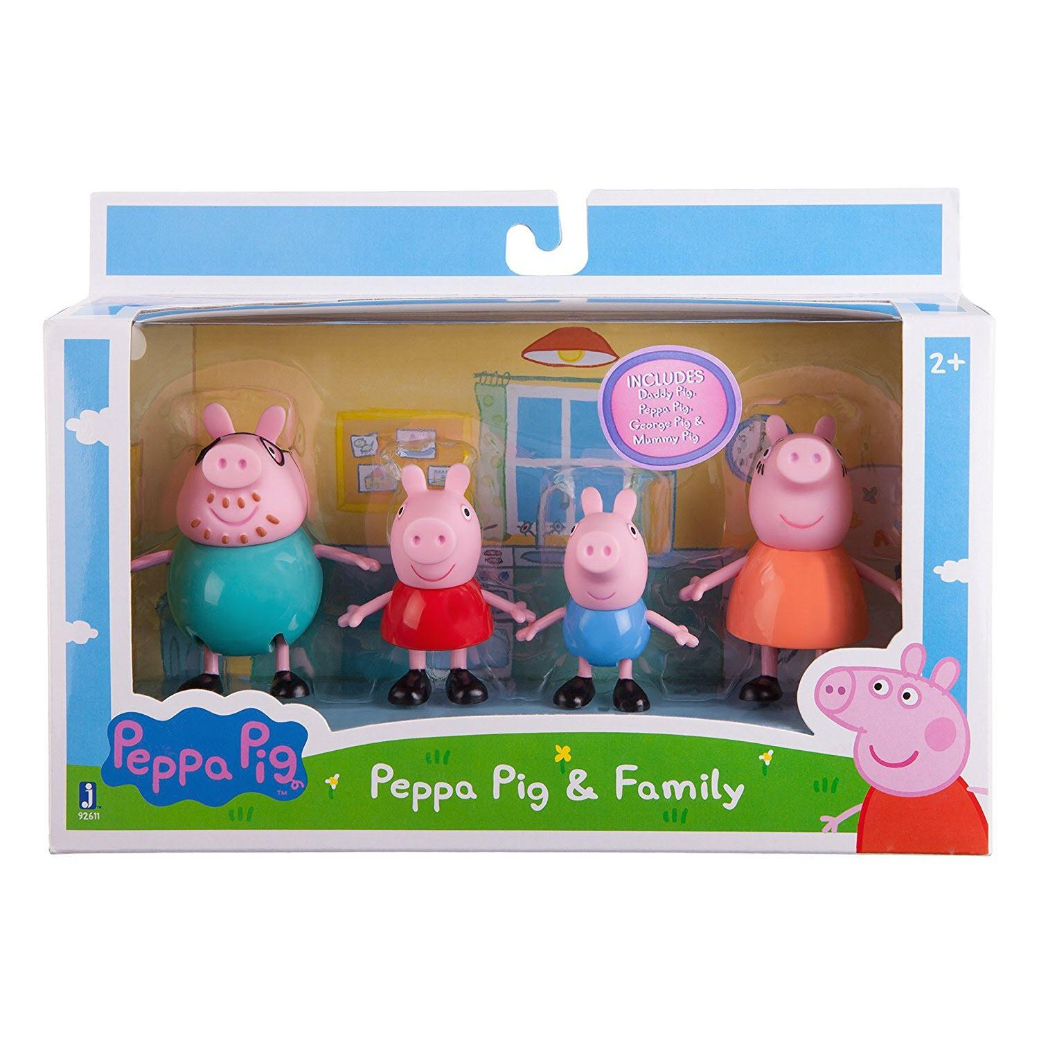 Amazon Com Peppa Pig Family 4 Figure Pack Toys Games