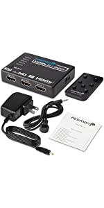 5 ports hdmi splitter switcher switch pigtail 1080p 3d hdtv hd 4k 3 port high speed remote adapter
