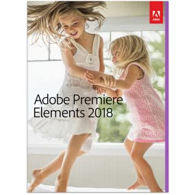 2 kids on the bed on the cover of Adobe Premiere Elements 2018 box