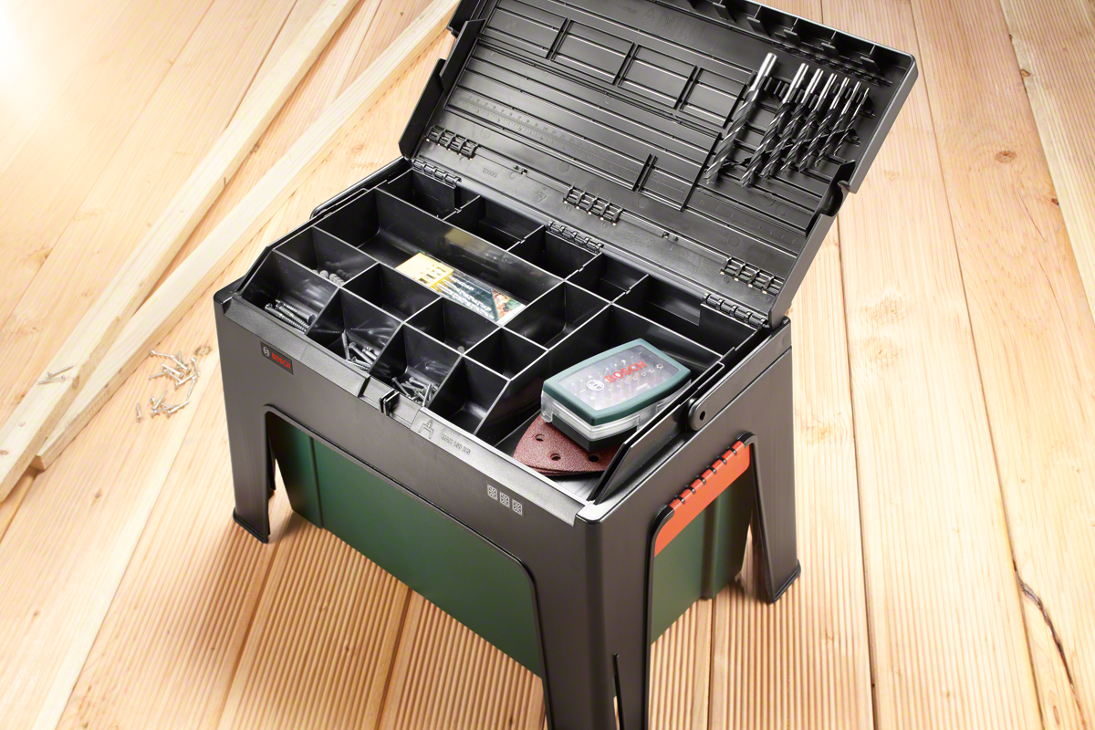 Bosch Step and WorkBox Multi-functional Toolbox (in a box
