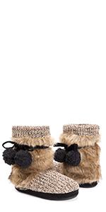 MUK LUKS, faux fur, cozy, Leslie, slipper
