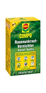 compo rasenunkraut vernichter banvel m 240 ml garten. Black Bedroom Furniture Sets. Home Design Ideas