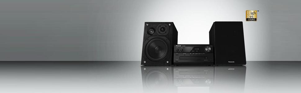 Panasonic SC-PMX80EG-K - Microcadena (120 W, con Sonido de Alta definición) Color Negro