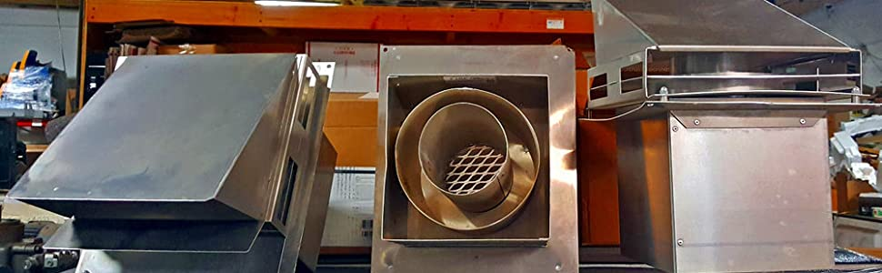 Tjernlund VH1-4 4 Aluminum Hood for Sidewall Vent Terminations
