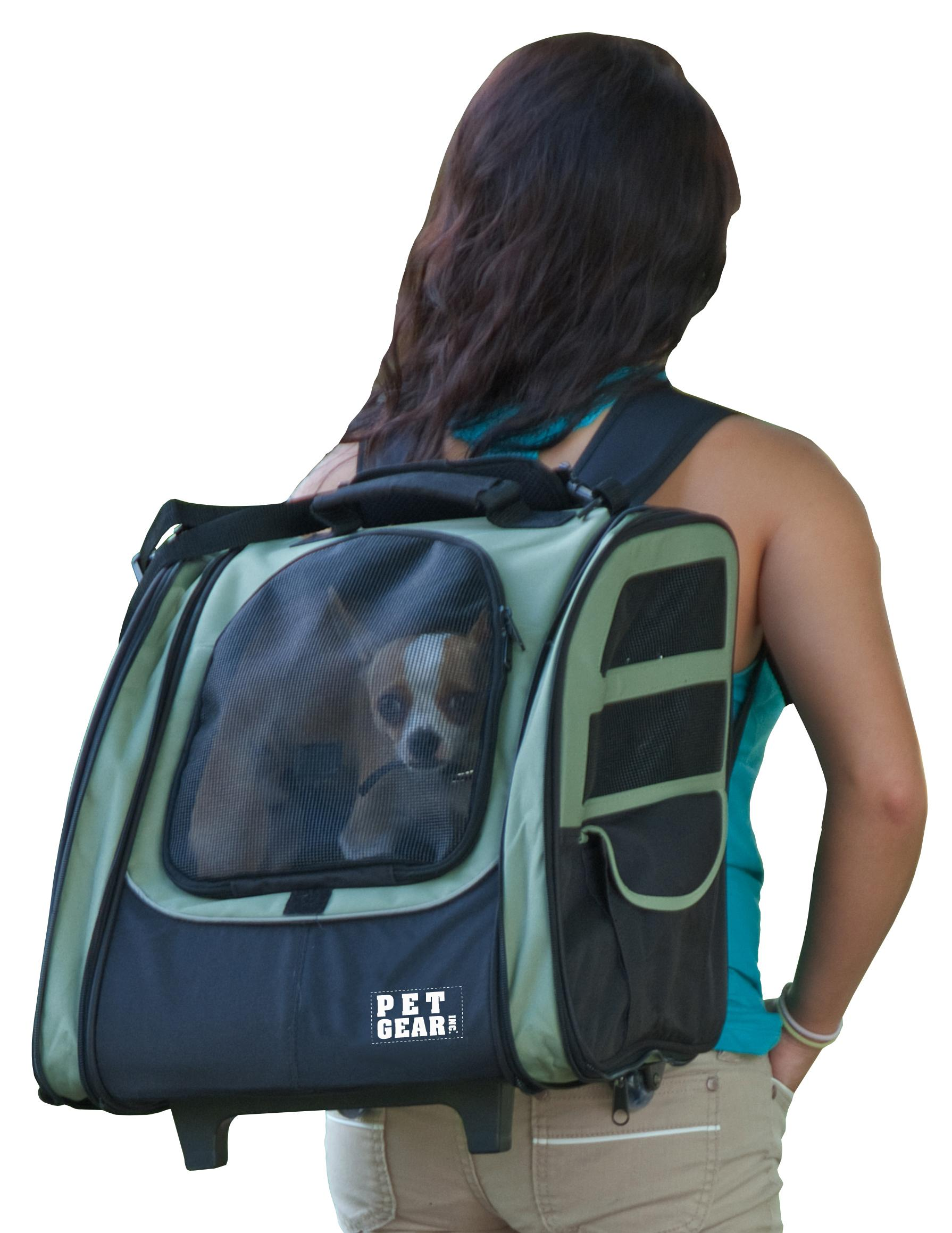 pet gear i go2 roller backpack travel carrier car seat for cats dogs mesh. Black Bedroom Furniture Sets. Home Design Ideas