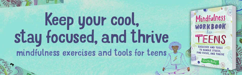 Mindfulness for teens, mindfulness workbook, guided journal, self help journal, teen