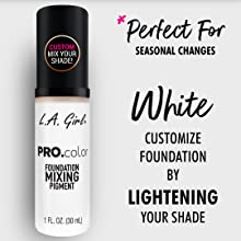 pro matte mixing pigment la girl cosmetics foundation white mixer matte