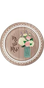 paper Wedding Plates