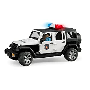 Bruder Bruder toys, Jeep wrangler unlimited Rubicon, police vehicle,