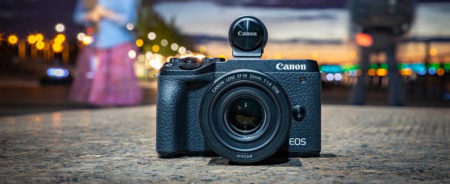 Canon EOS M6 Mark II - Cámara Mirrorless de 32.5 MP, Negro: Amazon ...