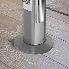 Seville classics ultraslimline standing tower base round wood 40 electric floorstanding plastic