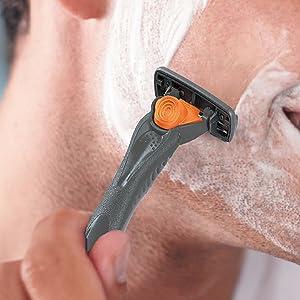 bic hybrid3 comfort disposable razor with lubricating strip