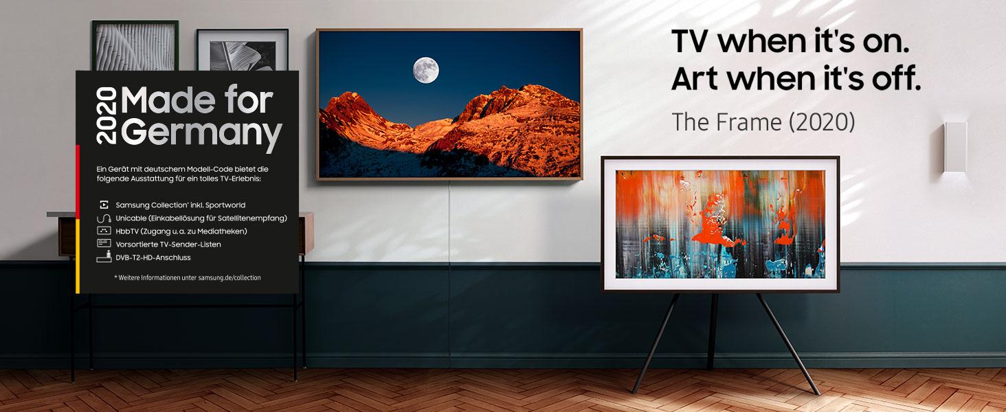 Samsung Qled 4k The Frame 189 Cm 75 Zoll Art Mode Qled Technologie Active Voice Amplifier Modelljahr 2020 Heimkino Tv Video