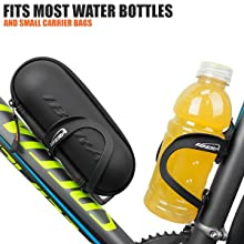 Ibera Bicycle Lightweight Aluminum Water Bottle Cage Carbon Pattern Pair