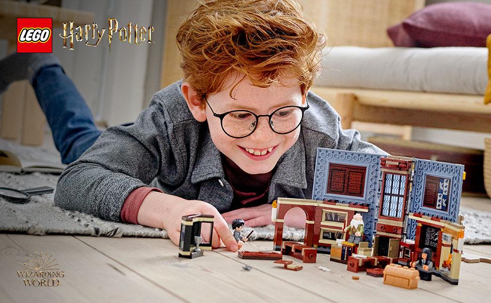 Lego 1x Minifig utensil baguette magique wand Harry Potter dark orange 36752c01