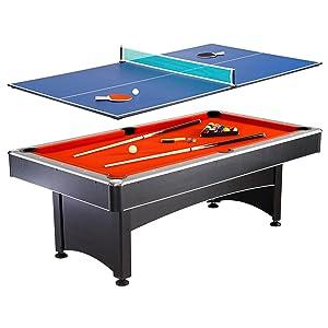 Attirant Multi Game Pool Table Tennis Combination