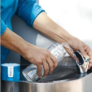 BRITA fill&go Vital Wasserfilter-Flasche, Praktische