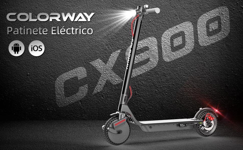 COLORWAY Patinete Eléctrico Plegable CX900 con APP, Batería 7.5Ah ...