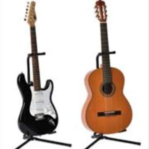 Cascha Gitarrenständer Klappständer Akustikgitarre E-Gitarre Universal Gitarrist