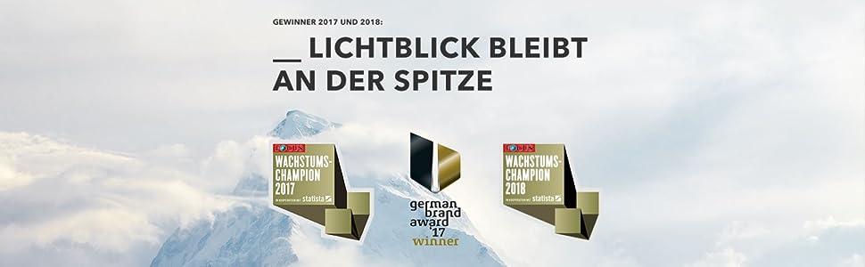 Lichtblick Gewinner des German Brand Awards und Wachstumschampion