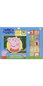 Peppa Pig - 10 Wooden Blocks and First Look and Find Book Set