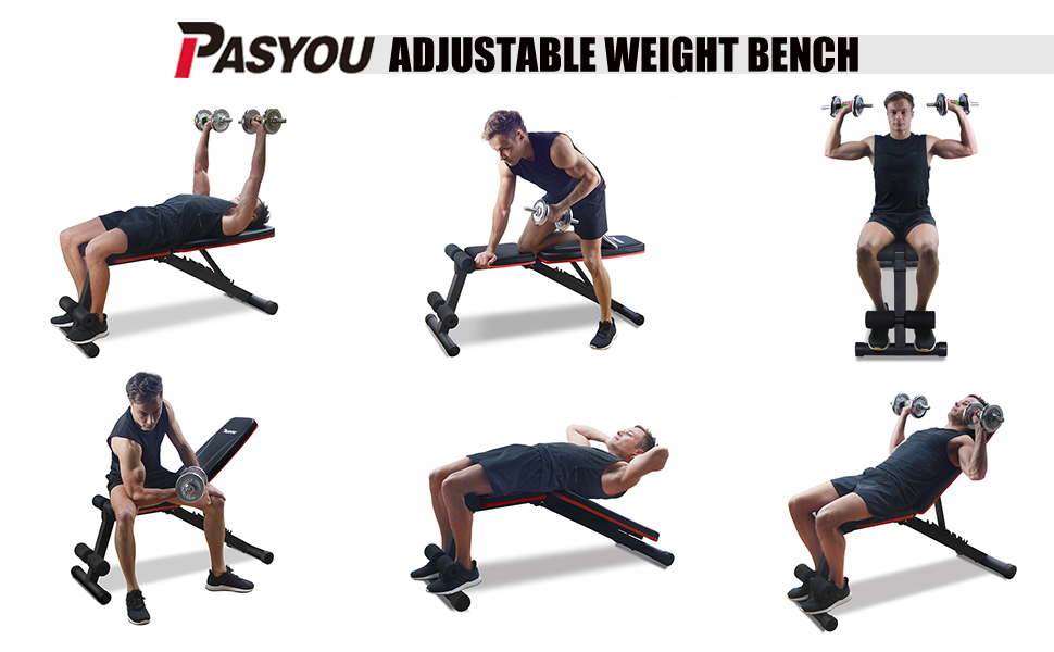 Adjustable Weight Bench Home Training Suitable for Adults Folding Fitness Bench 5-Speed Bench Press Dumbbell Bench