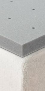 1.5 ventilated memory foam topper