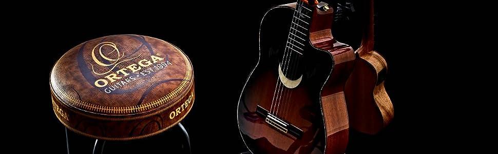 Logo 140 X 80 Cm Nero Ortega Guitars ORUG Tappeto da Palco Antiscivolo