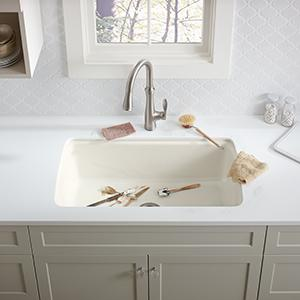 Strength. KOHLER Enameled Cast Iron Sinks ...