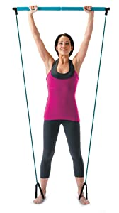 Amazon.com : Empower Pilates Resistance Band and Toning Bar Home Gym, Portable Pilates Total