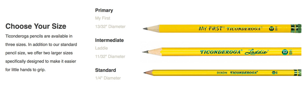 ticonderoga choose you size primary intermediate standard