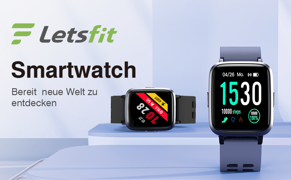 Letsfit Smartwatch, Fitness Armbanduhr Touchscreen: Amazon